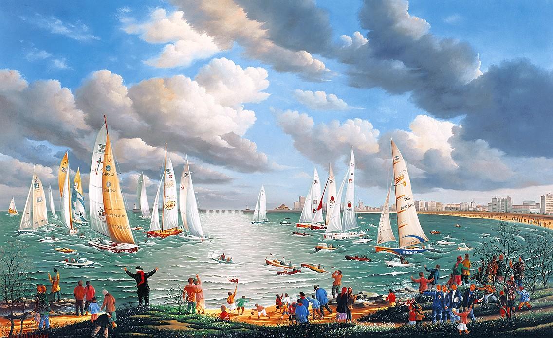 Raphaël Toussaint - Peintre de la Vendée Regard_sur_le_Vend%C3%A9e_Globe_par_Rapha%C3%ABl_Toussaint