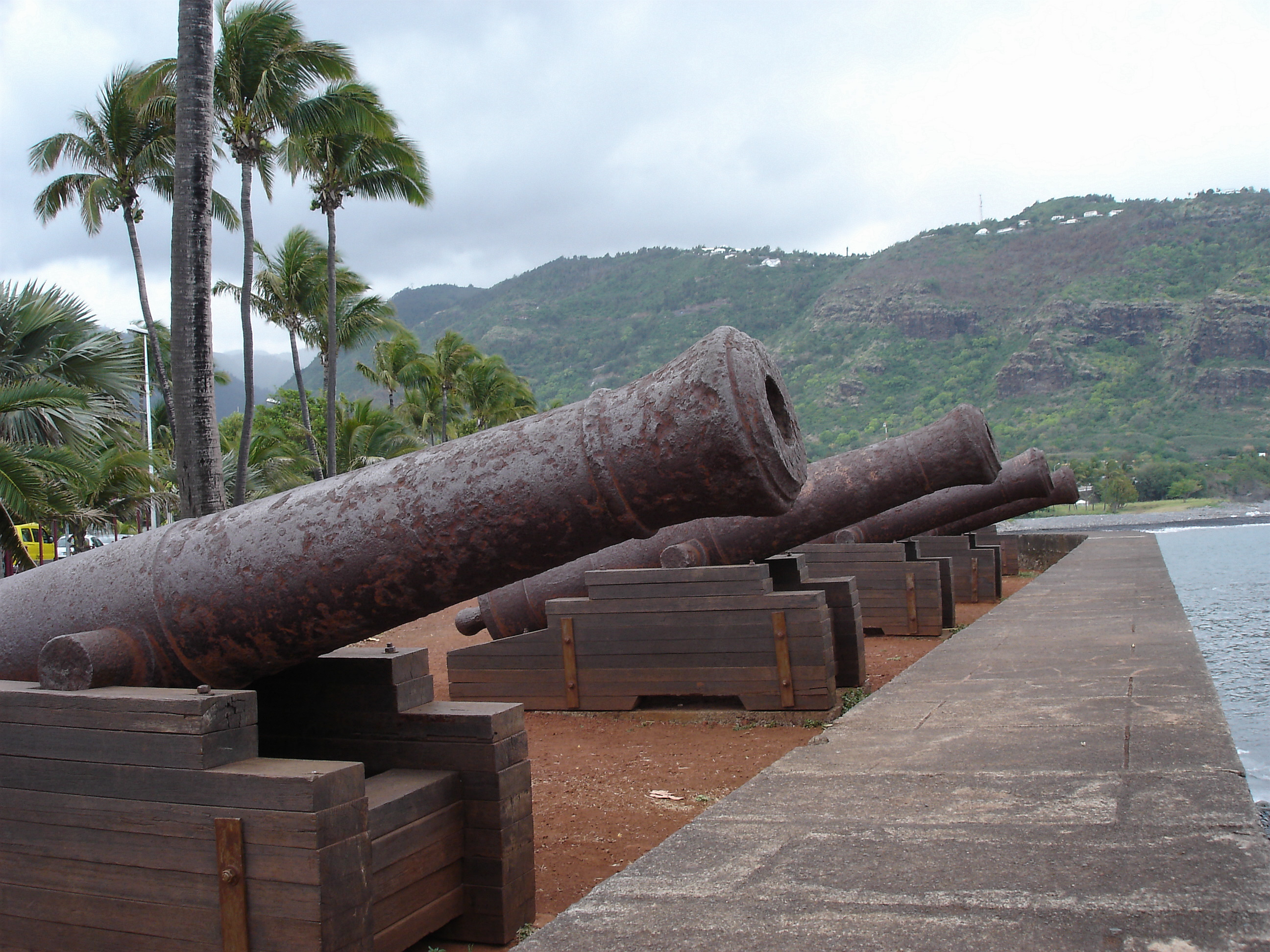 Cannons at Le Barachois, Saint-Denis, Réunion Island