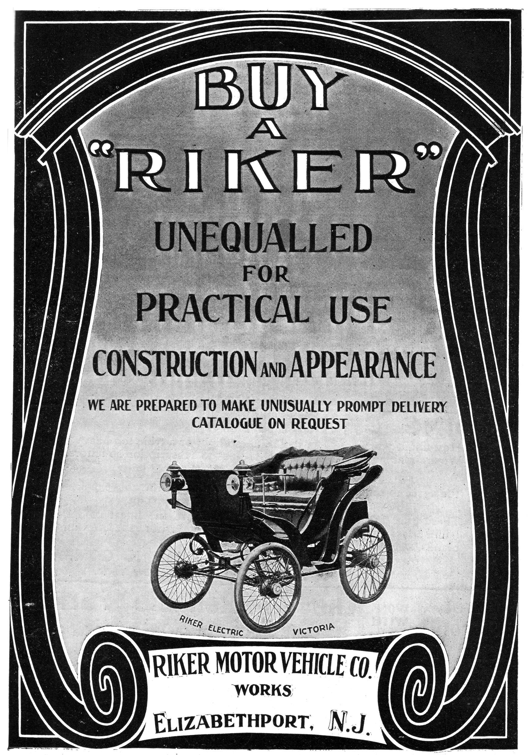 Buy a Riker - 1900 ad