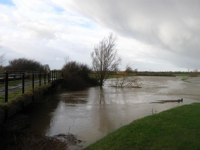 River Adur at Betley Bridge - geograph.org.uk - 1600192