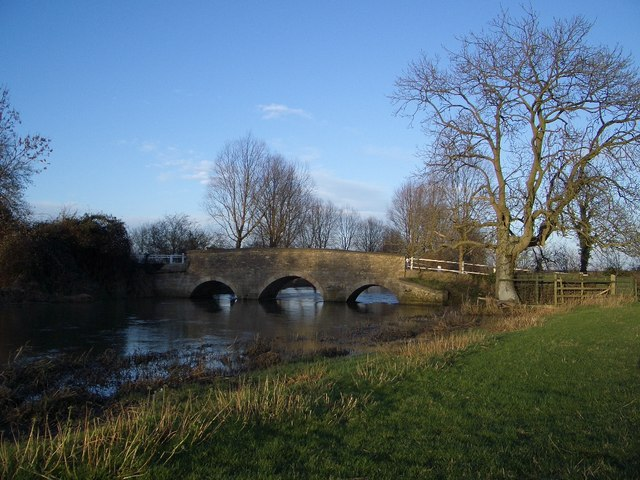 River Bridge East of Aldwincle - geograph.org.uk - 322067
