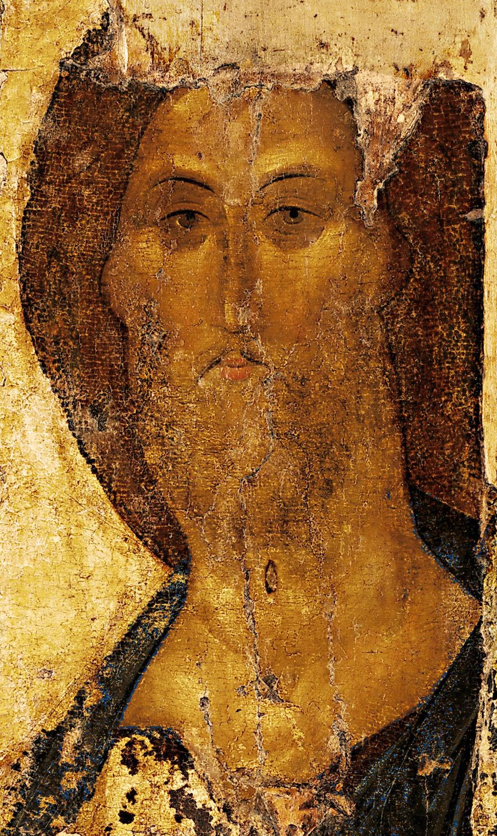 Спас из Звенигородского чина, рубеж XIV—XV веков