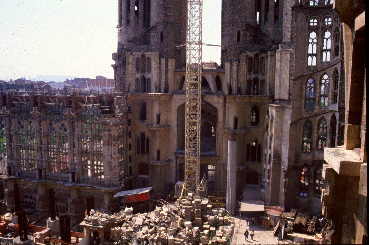 De bouw van de Sagrada Familia