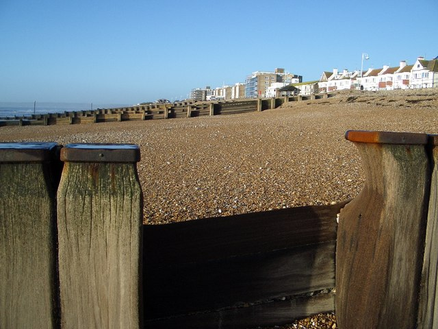 Sea Groynes on Bexhill Beach - geograph.org.uk - 295356