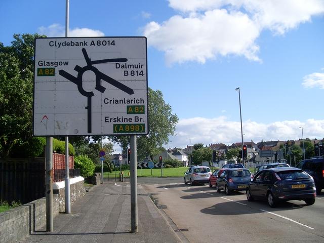 Uk Roundabout Sign