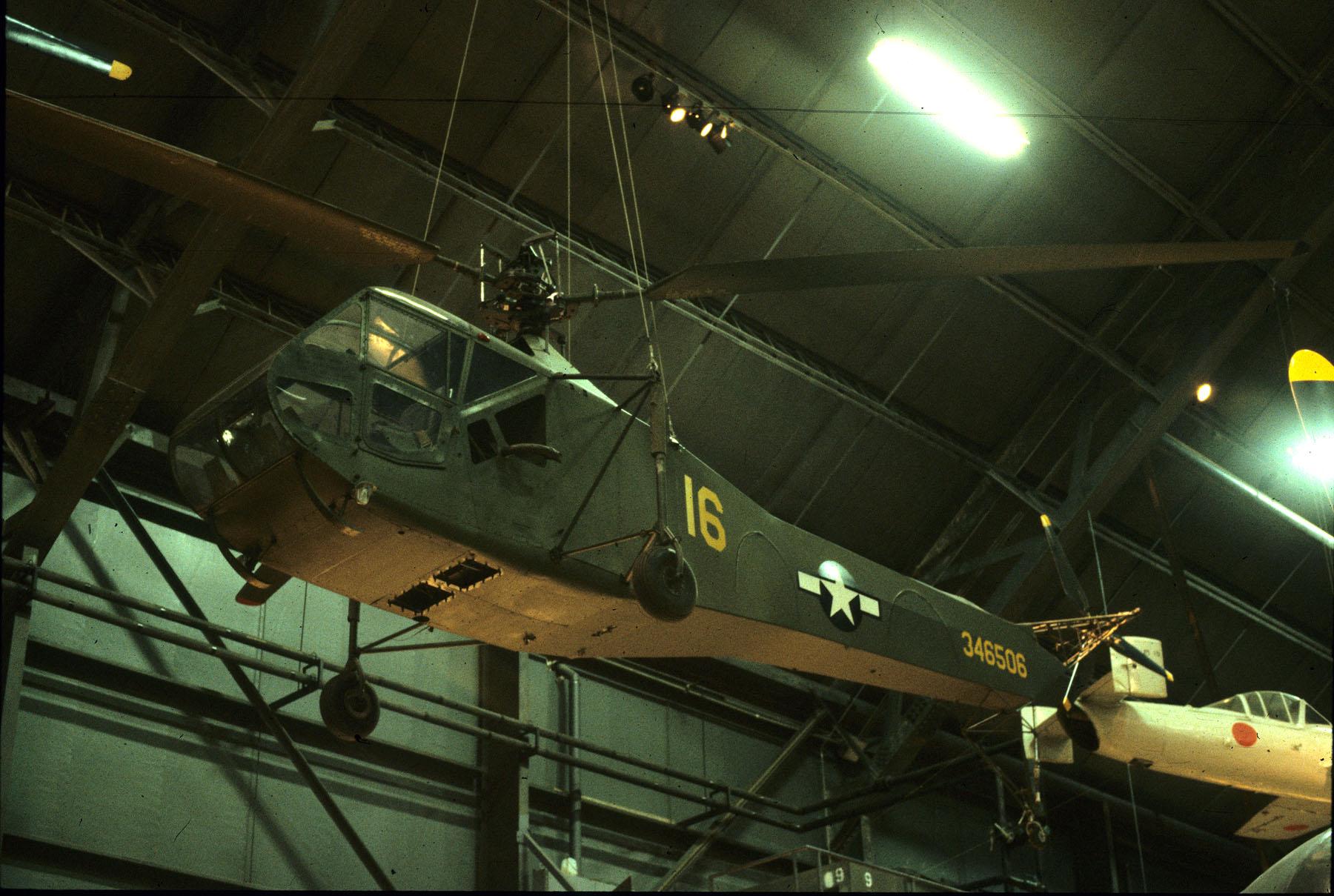 Sikorsky R-4B inside USAF