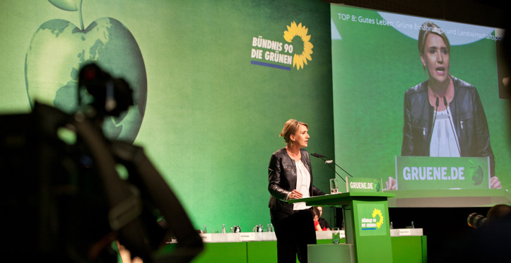 Simone Peter, Bundesvorsitzende von Bündnis 90/Die Grünen, bei der BDK14 in Hamburg
