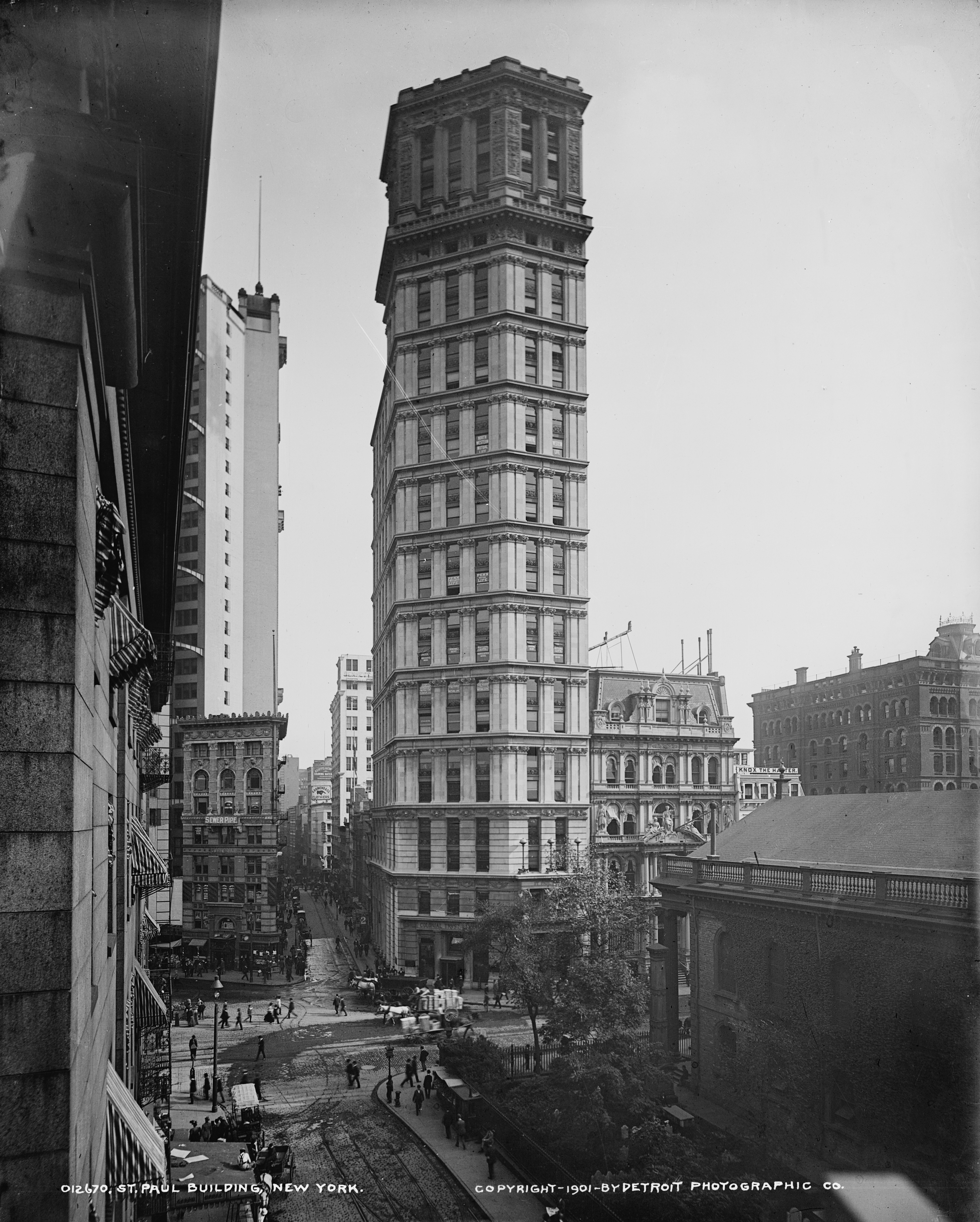 File St Paul Building 1901 New York City Jpg Wikimedia