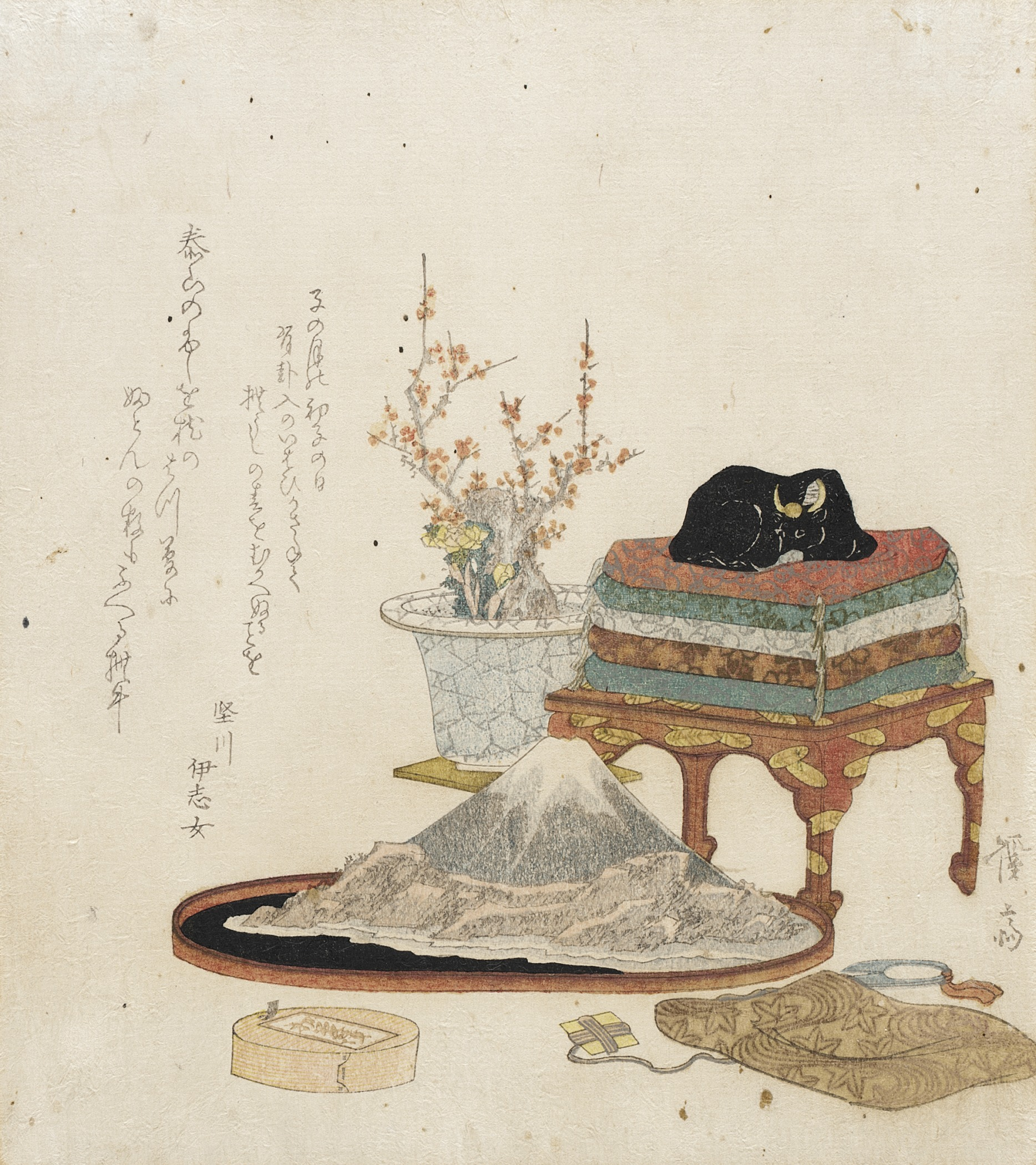 File Still Life With Bonsai Suiseki And Stroking Ox