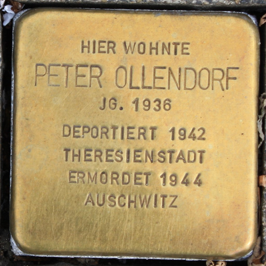 Stolperstein Peter Ollendorf Wuppertal.JPG