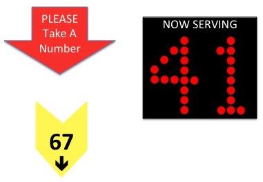 take a ticket machine