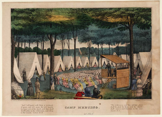 Tent revival during the Second Great Awakening