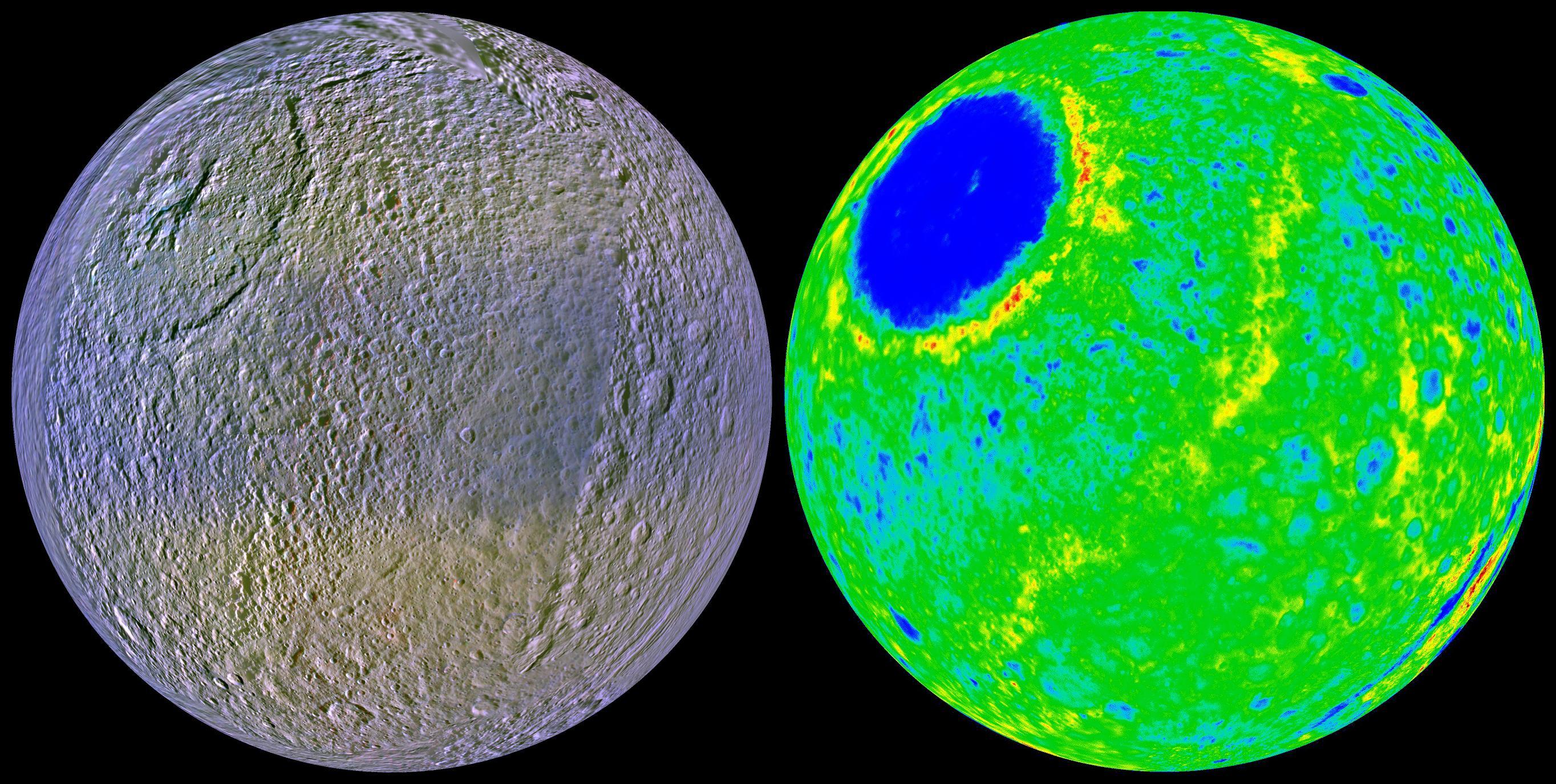 tethys moon of saturn