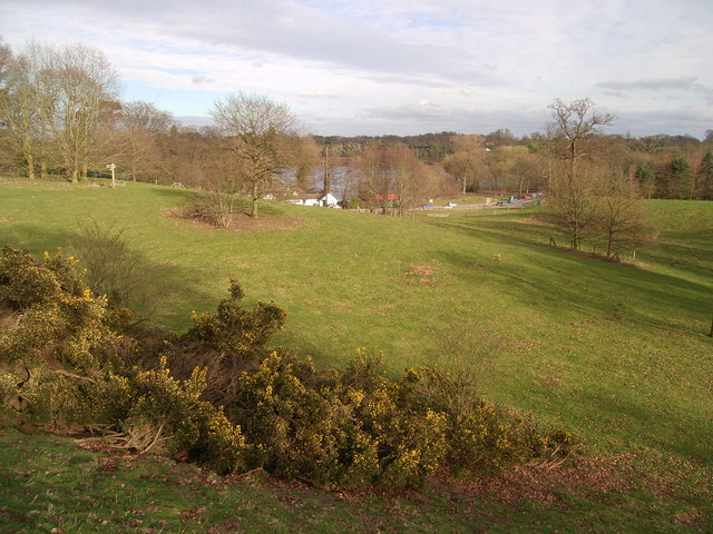 The Mere from Ellesmere Castle Mound - geograph.org.uk - 915173