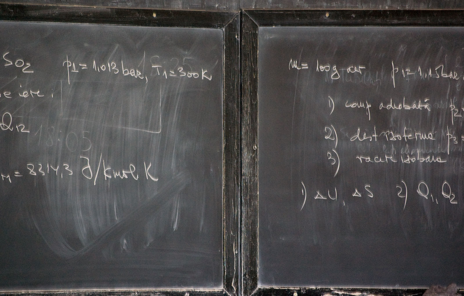 blackboard with formula. Wikimedia commons
