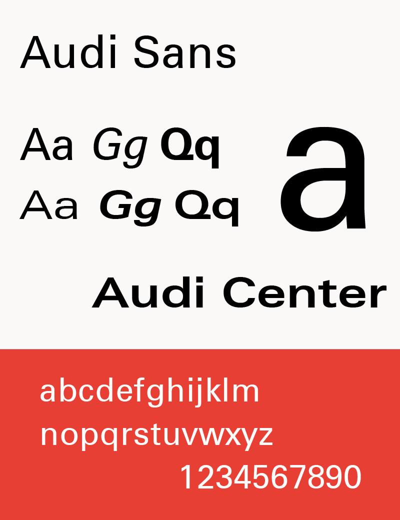 Audi wikipedia the typeface audi sans used 1997 2009 biocorpaavc Gallery