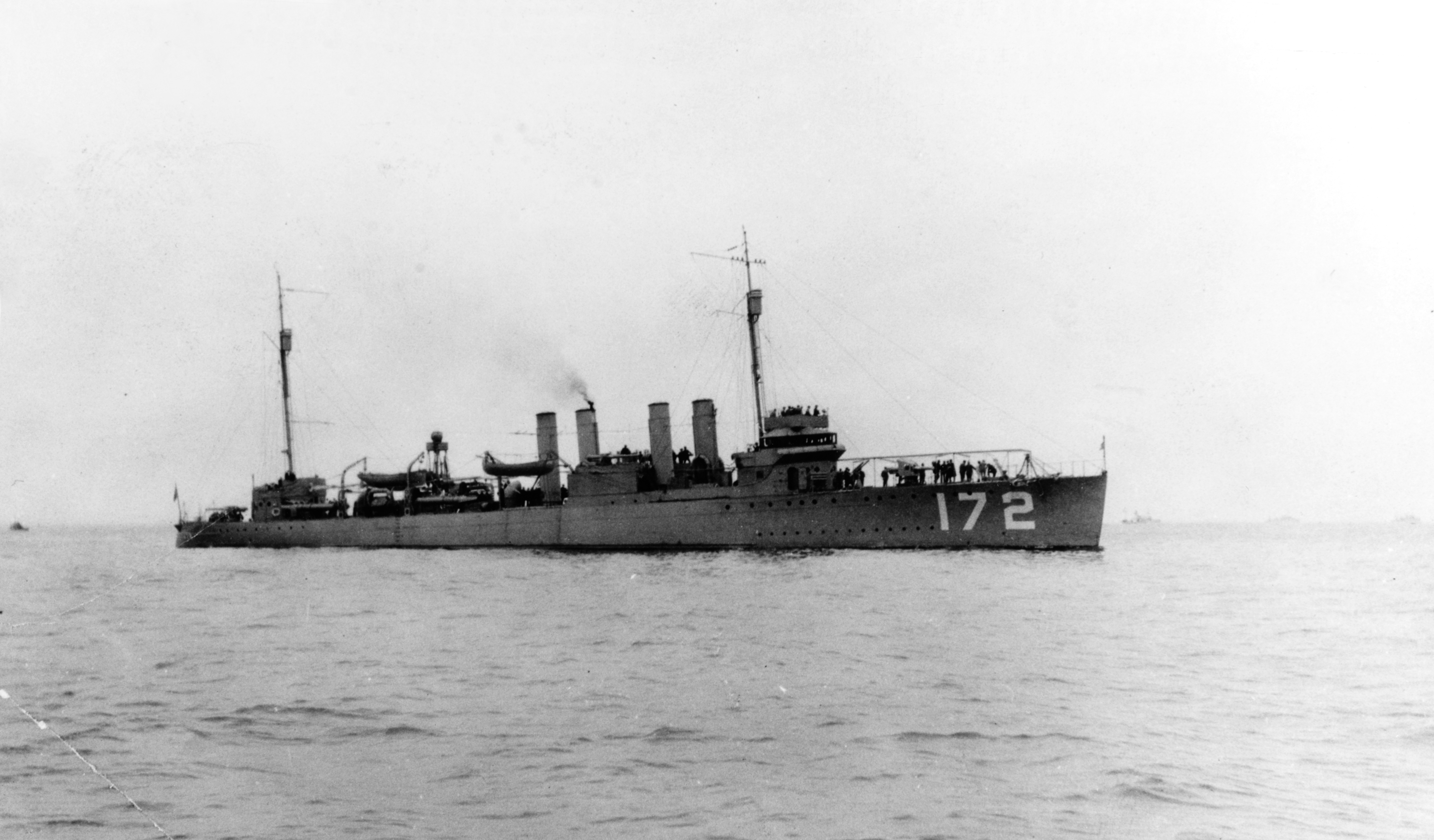 USS Anthony (DD-172), in Pacific Coast waters, circa 1920