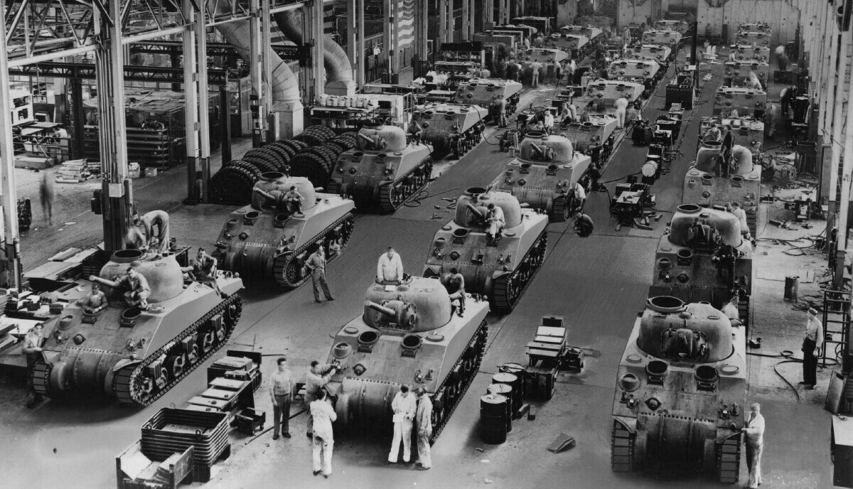 Warren tank plant during WWII