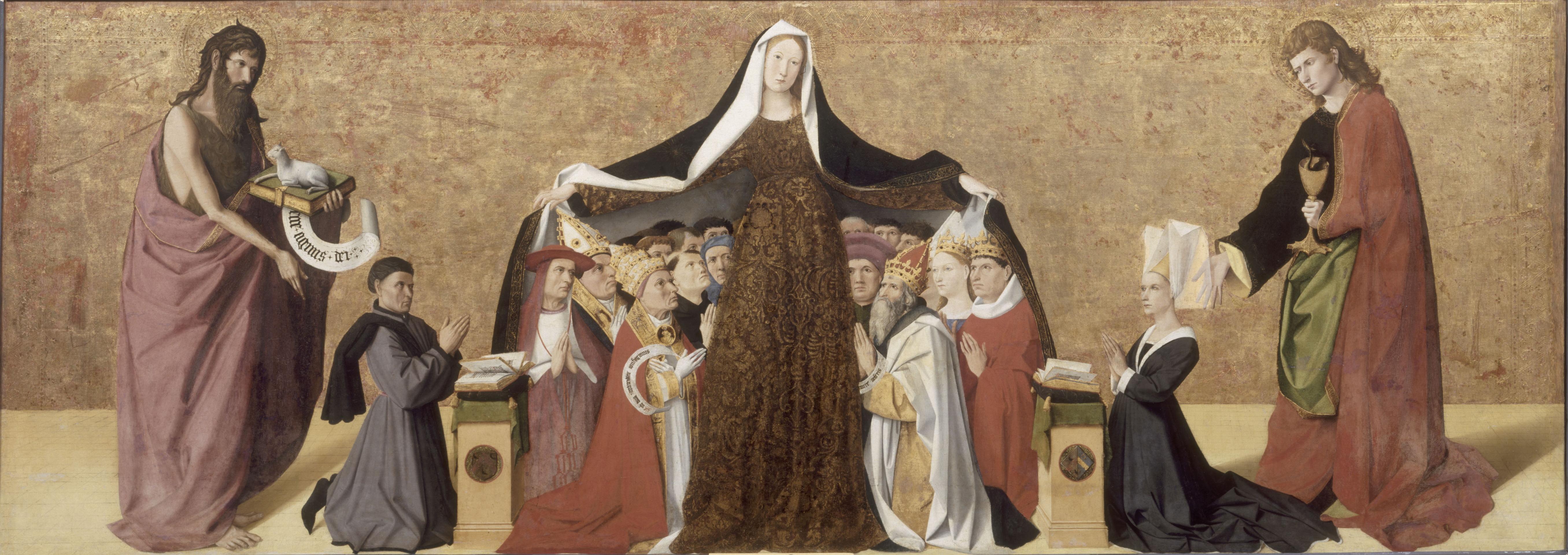 Enguerrand Charonton (ca 1410-61): La Vierge de Miséricorde (1452), Musée Condé i Chantilly