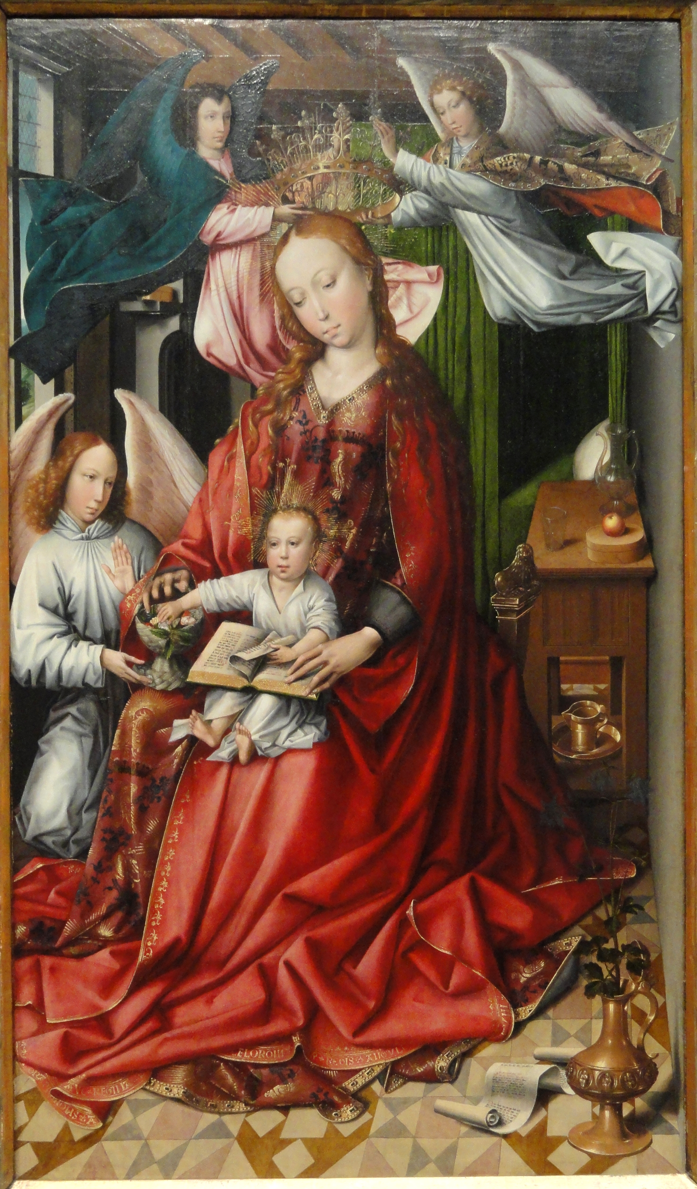 virgin child The virgin and child with chancellor rolin marks an important stage in van eyck's artistic development, and flemish painting as a whole van eyck's works often feature prominent portraits of his patrons, as here and in the virgin with canon van der paele painted between 1434 and 1436.