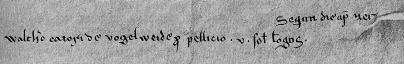 Única mención documental a Walther von der Vogelweide.