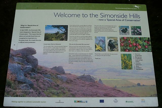 Welcome to the Simonside Hills - geograph.org.uk - 872531