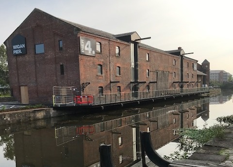 Wigan Pier with canalside