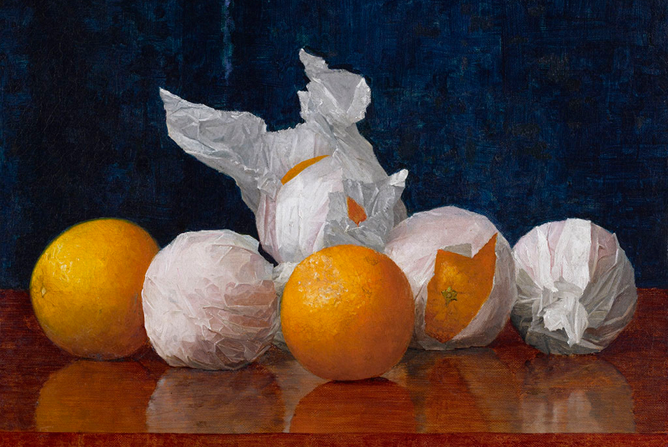 Resultado de imagem para Wrapped Oranges (1889) by William J McCloskey. Courtesy Amon Carter Museum of American Art/Wikipedia