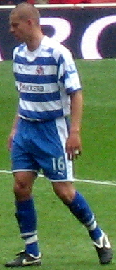 Ívar Ingimarsson playing for Reading in 2008.