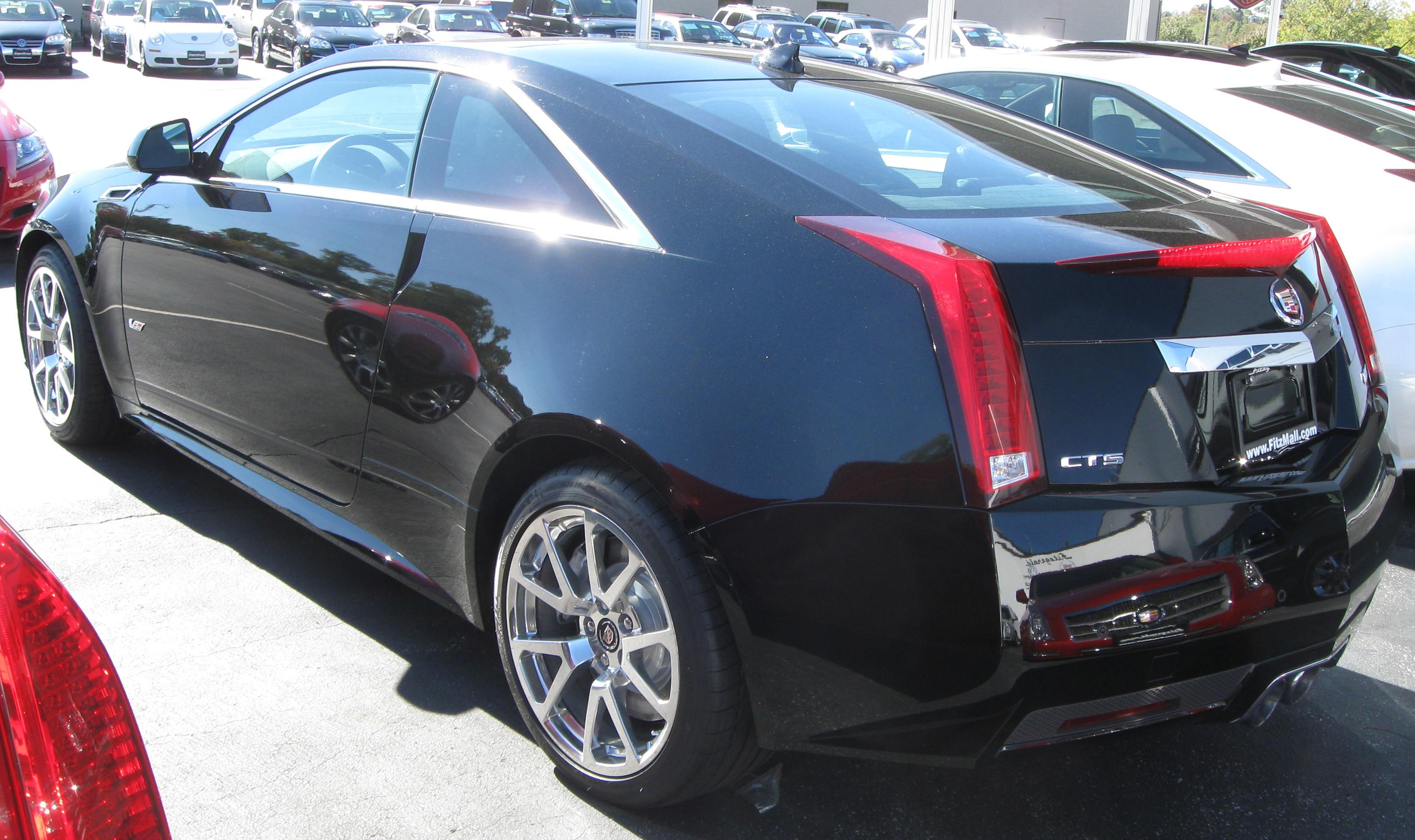 File 2011 Cadillac Cts V Coupe Rear 10 22 2010 Jpg Wikimedia