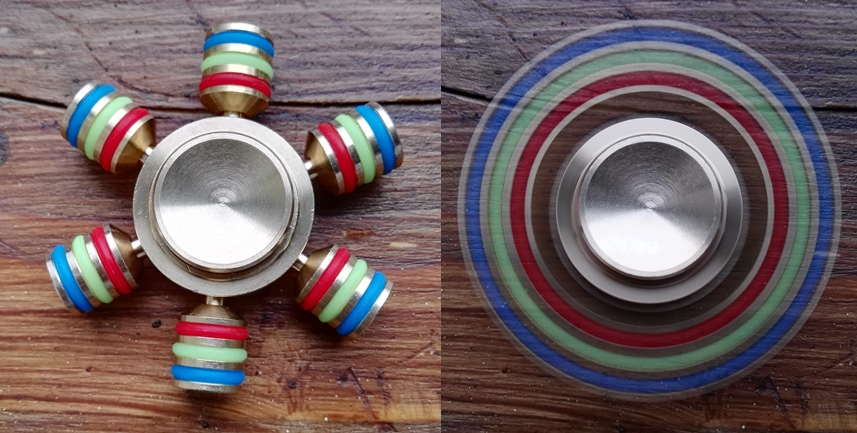 file a fidget spinner with 6 blades both stationary and spinning jpg