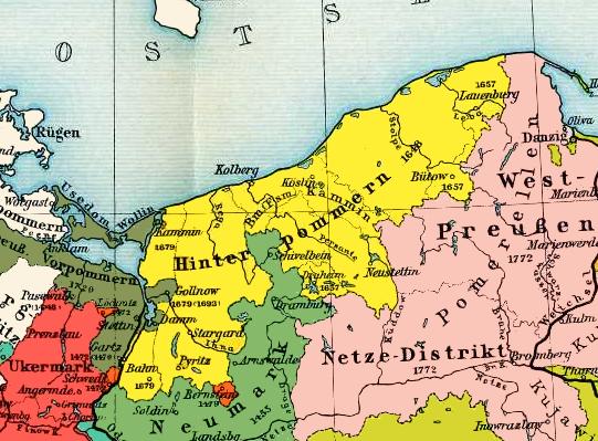 Pommern Germany Map.Farther Pomerania Wikipedia