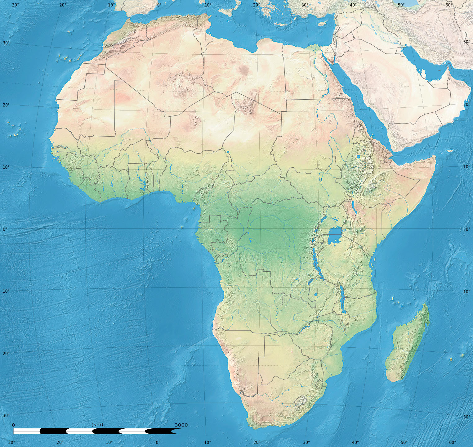 Land Africa Africa Land Cover Map