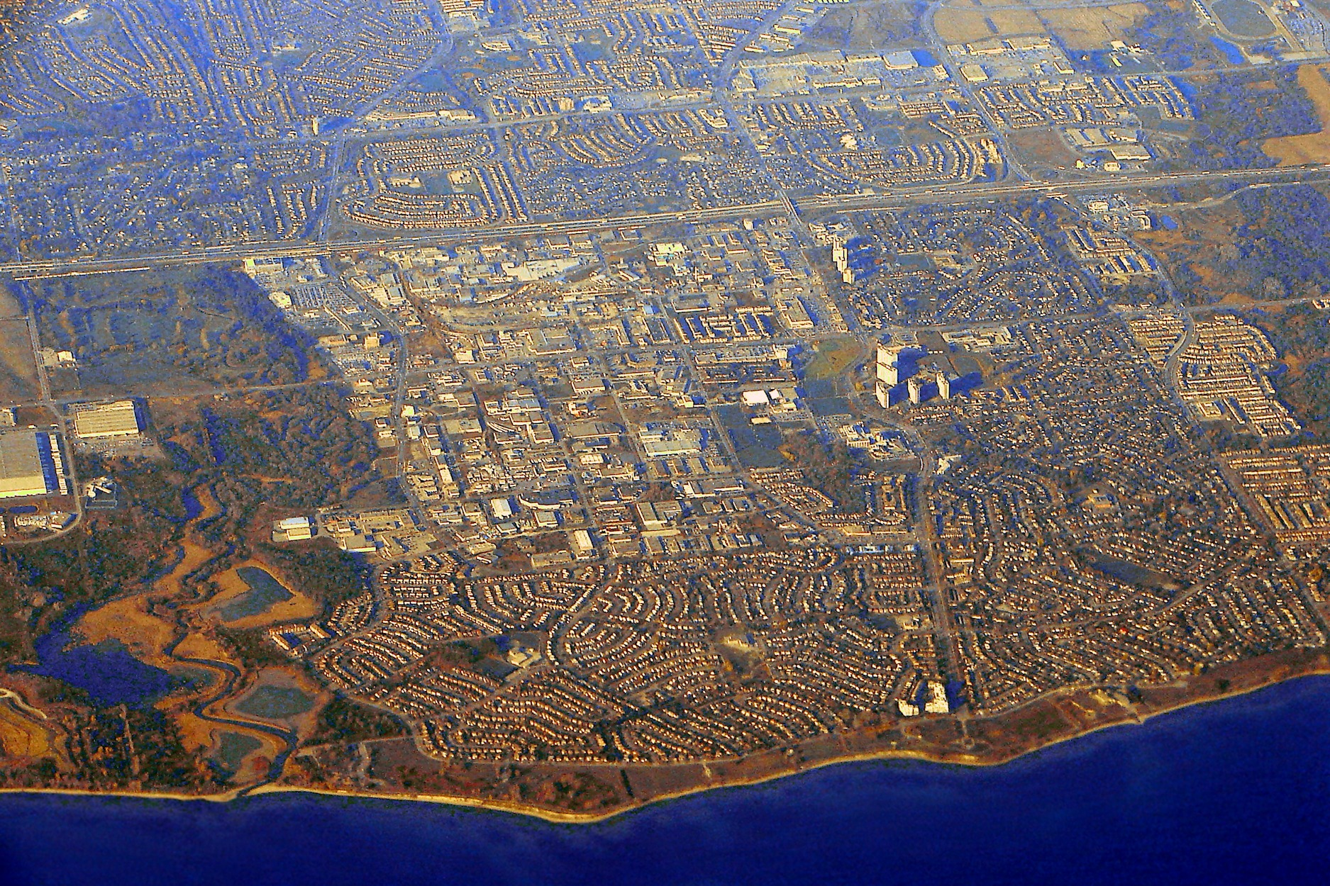 Aerial view of Ajax in November 2012