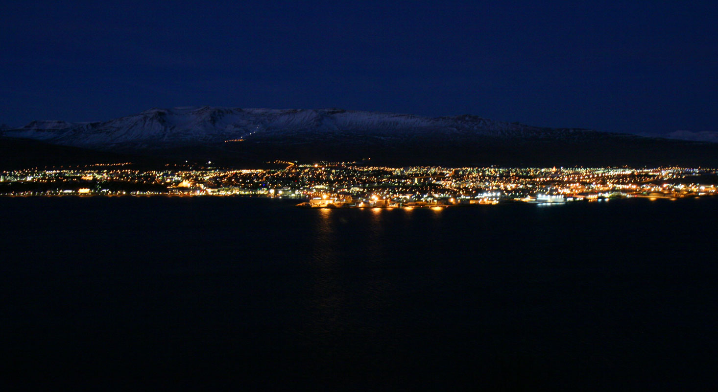 Akureyri at night