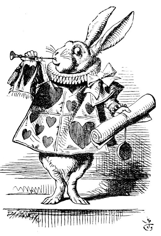 Illustration du roman de Lewis Carroll, Alice au pays des merveilles par John Tenniel-extraite de Wikimedia