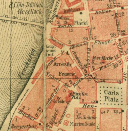 Düsseldorf Karte.Datei Ausschnitt Karte Von Düsseldorf Carlstadt Und Altstadt Vor