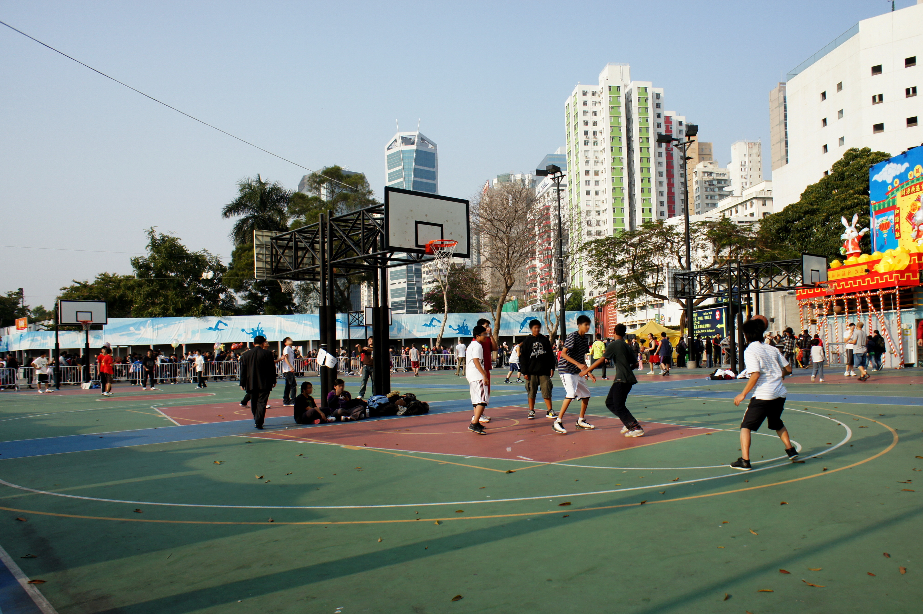 File Basketball Courts Of The Victoria Park Hong
