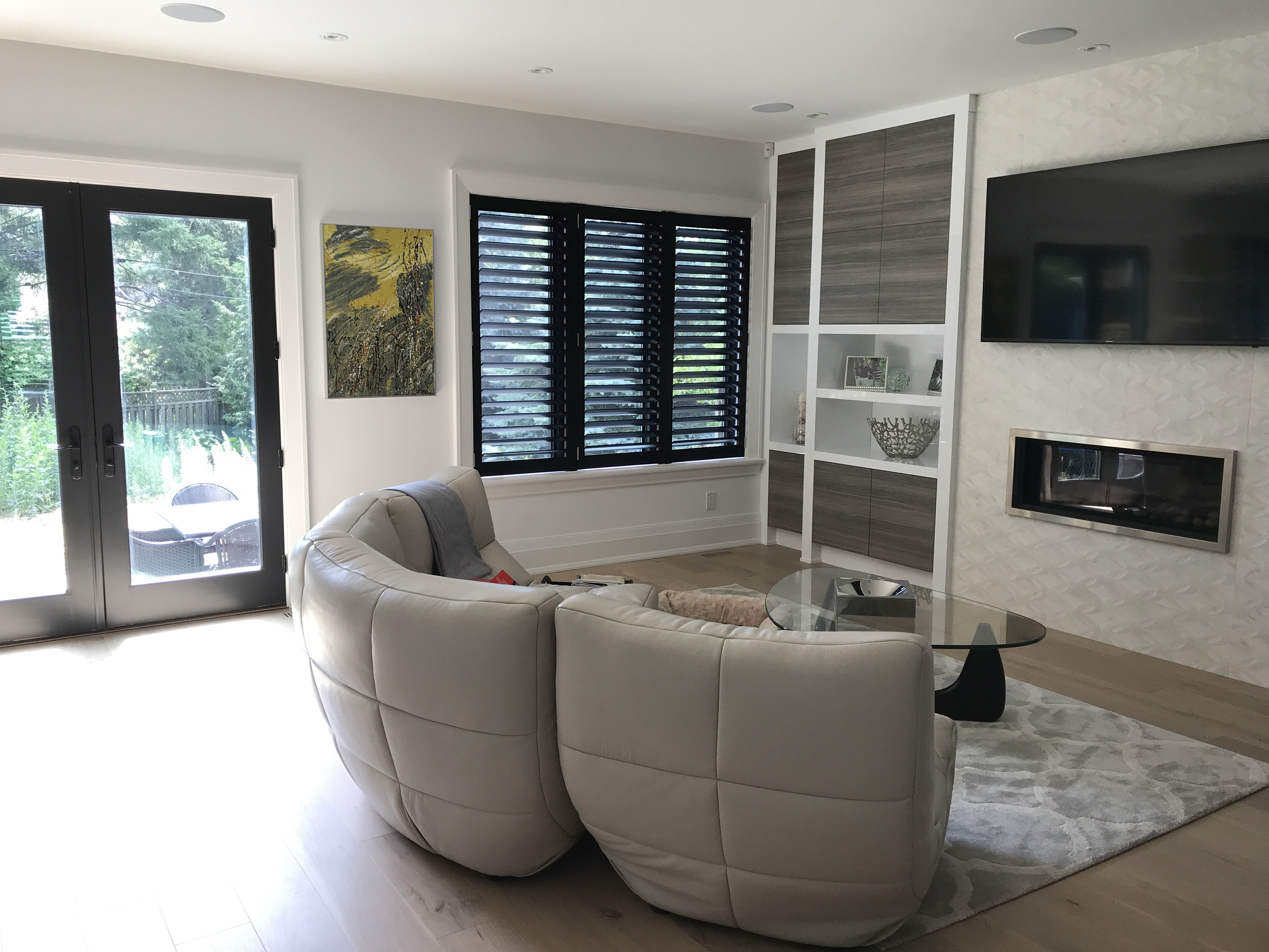 File Black California Shutters Fitted To Living Room Window