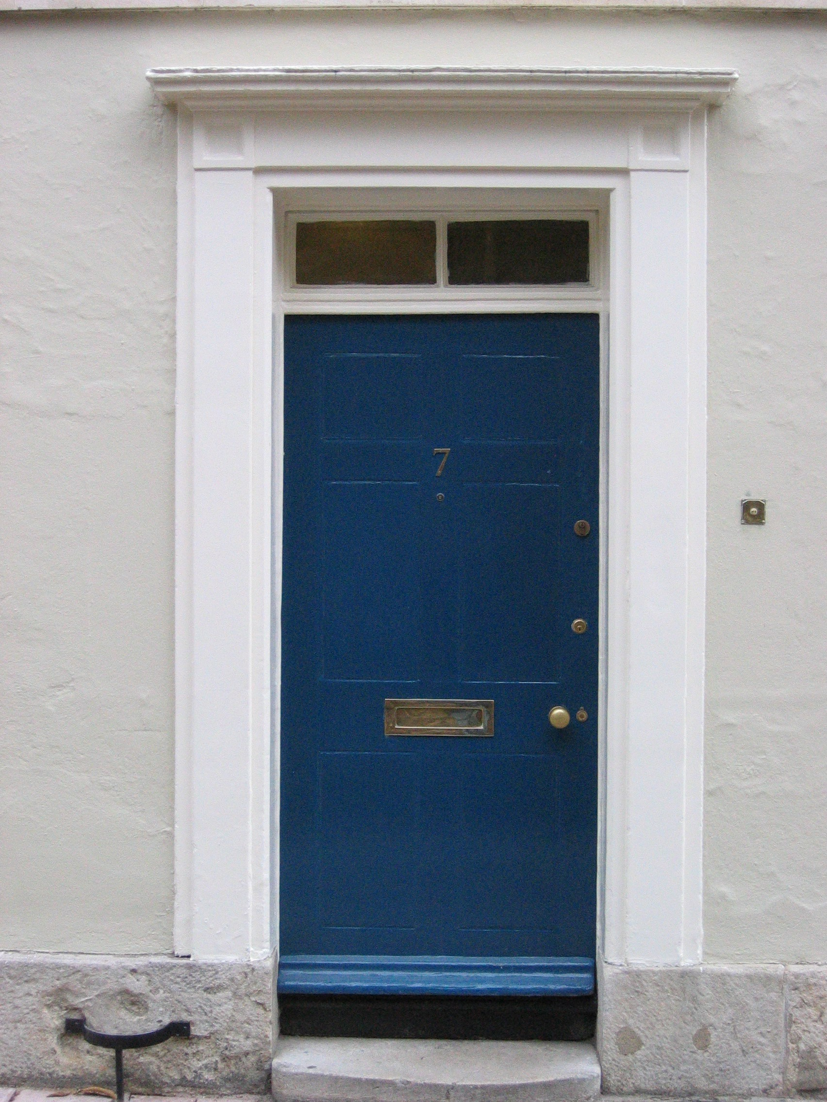 File blue for Doors for front door