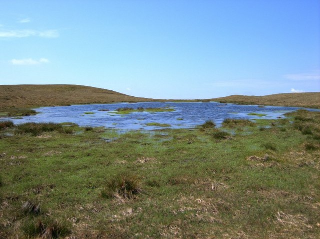 Boggy pool on the plateau between the Plynlimon tops - geograph.org.uk - 182516