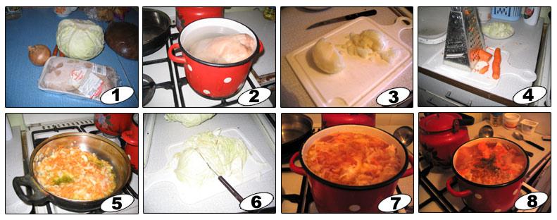 Приготовить борщ пошагово