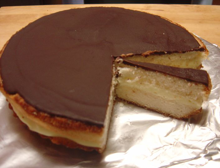 Boston Cream Pie Cake Recipe Graham Crackers