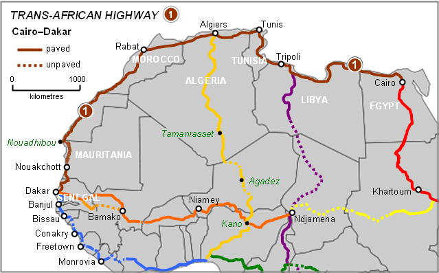 Cairo–Dakar Highway - Wikipedia on paris-dakar route map, rally usa map, 2014 dakar rally raid map, rallye de dakar map, dakar world maps, dakar on facebook, dakar africa, dakar map island, songhai tribes map,