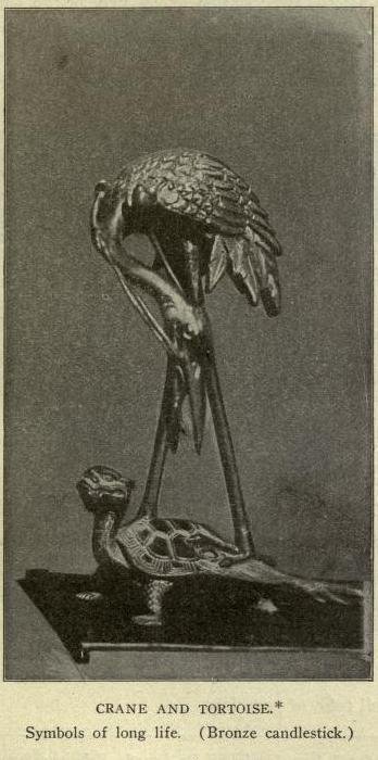 Filecarus P23 Crane And Tortoise Symbols Of Long Life Bronze