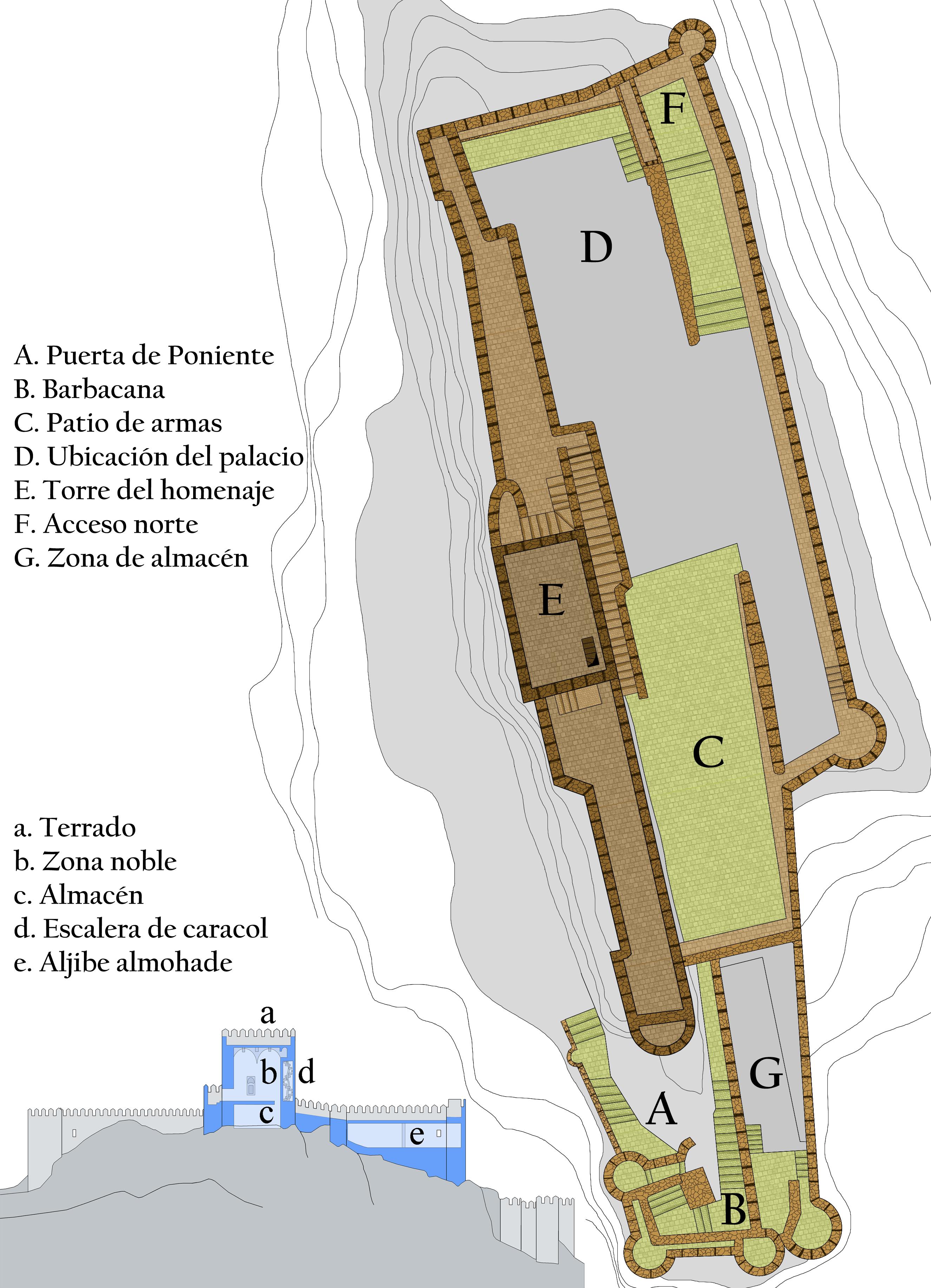 Archivo castillo de almansa wikipedia - Plano de almansa ...