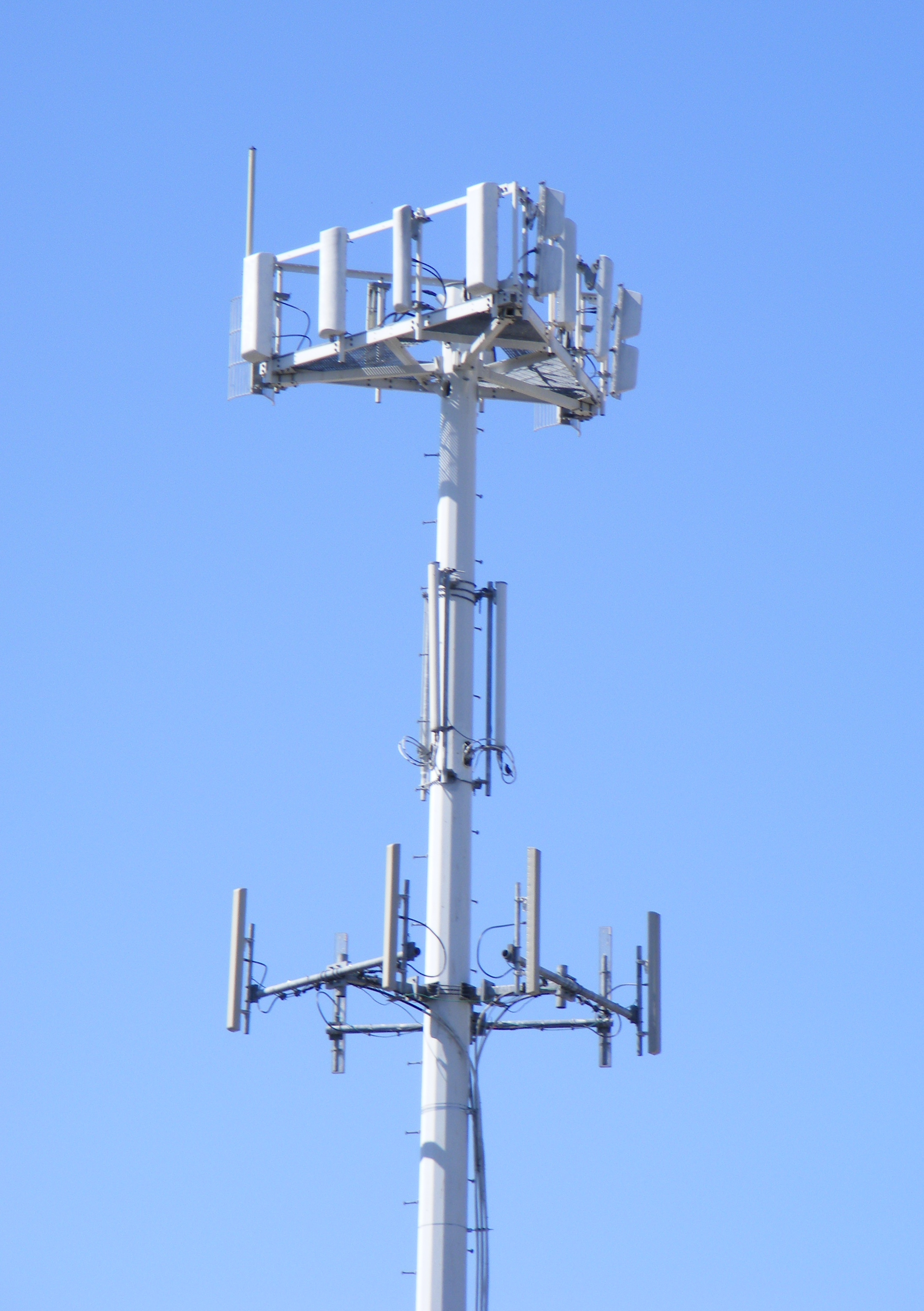 The top of a cell tower (via Wikimedia Commons)