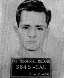 Booking photo, Federal Correctional Institute Terminal Island, May 2, 1956