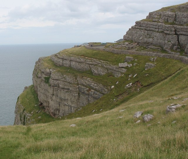 """File:Cliff top west of """"Rest and Be Thankful"""" Cafe - geograph.org.uk - 1424823.jpg"""