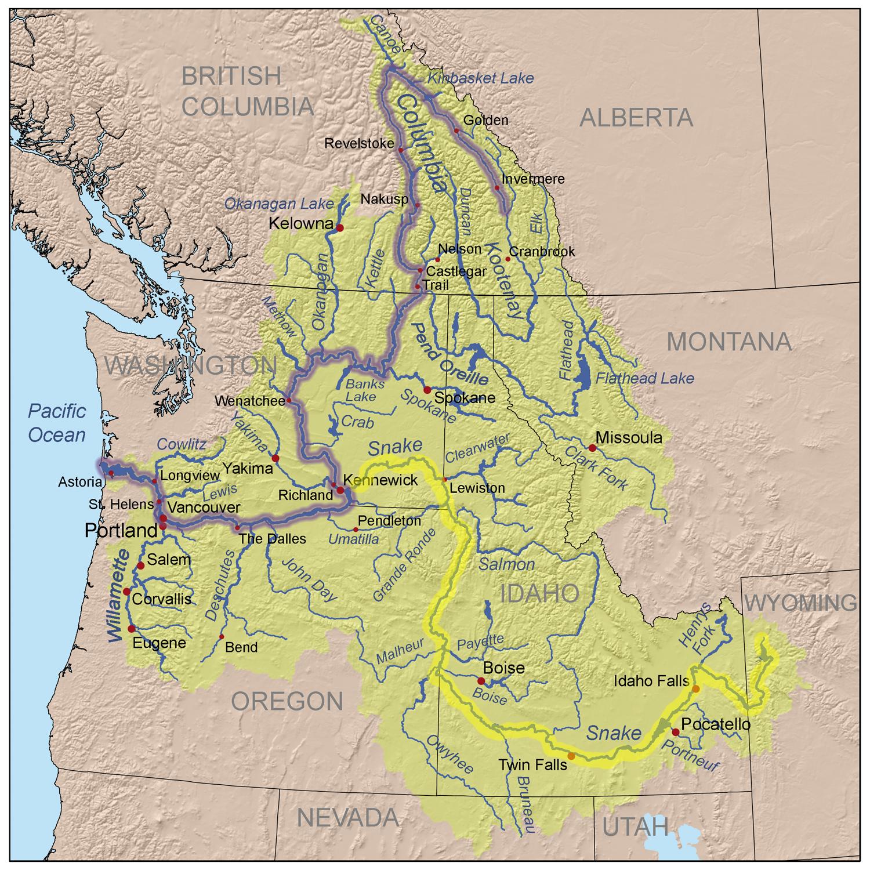 snake and columbia rivers meet